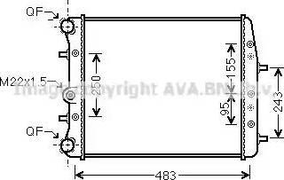 Ava Quality Cooling SAA2005 - Радиатор, охлаждение двигателя autodif.ru