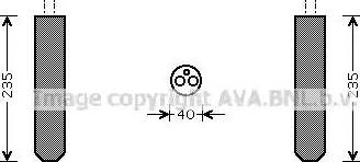 Ava Quality Cooling TOD017 - Осушитель, кондиционер autodif.ru