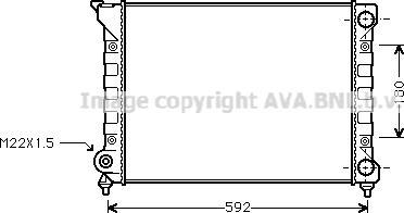Ava Quality Cooling VN2071 - Радиатор, охлаждение двигателя autodif.ru