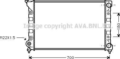 Ava Quality Cooling VN2072 - Радиатор, охлаждение двигателя autodif.ru