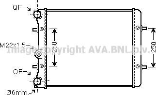 Ava Quality Cooling VN2152 - Радиатор, охлаждение двигателя autodif.ru