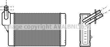 Ava Quality Cooling VNA6060 - Теплообменник, отопление салона autodif.ru