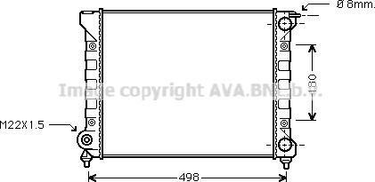 Ava Quality Cooling VNA2040 - Радиатор, охлаждение двигателя autodif.ru