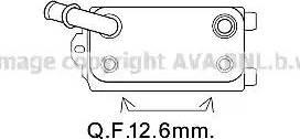 Ava Quality Cooling VO3170 - Масляный радиатор, автоматическая коробка передач autodif.ru