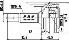 Aywiparts AW1510167 - Шарнирный комплект, приводной вал autodif.ru