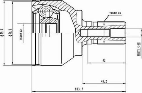 Aywiparts AW1510105 - Шарнирный комплект, приводной вал autodif.ru