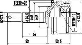 Aywiparts AW1510179 - Шарнирный комплект, приводной вал autodif.ru