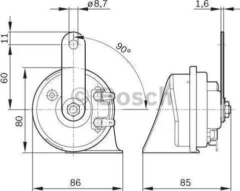 BOSCH 6033FB2012 - Звуковой сигнал autodif.ru