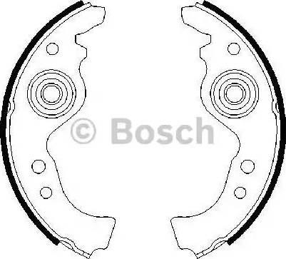 BOSCH 0 986 487 030 - Комплект тормозных колодок autodif.ru
