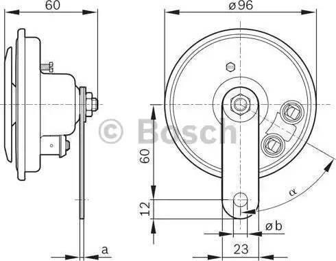 BOSCH 0986320111 - Звуковой сигнал autodif.ru