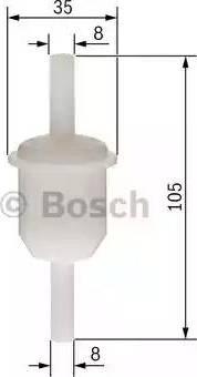 BOSCH 0450904058 - Топливный фильтр autodif.ru