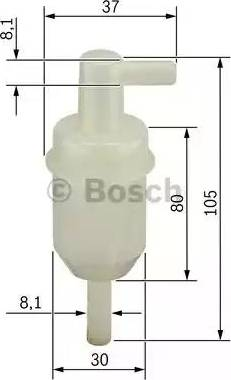 BOSCH 0450904077 - Топливный фильтр autodif.ru