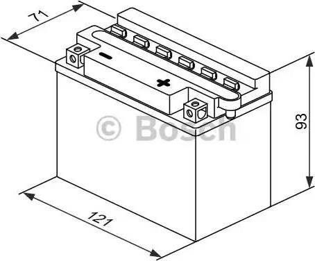 BOSCH 0092M4F170 - Стартерная аккумуляторная батарея autodif.ru