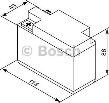 BOSCH 0092M60030 - Стартерная аккумуляторная батарея autodif.ru