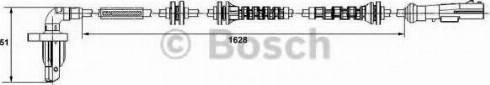 BOSCH 0 265 008 296 - Датчик ABS, частота вращения колеса autodif.ru