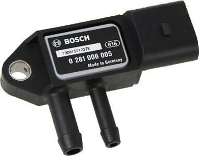BOSCH 0281006005 - Датчик, давление выхлопных газов autodif.ru
