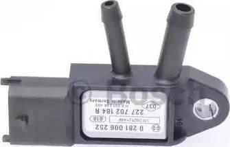 BOSCH 0281006252 - Датчик, давление выхлопных газов autodif.ru