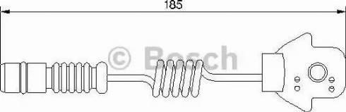 BOSCH 1987474963 - Сигнализатор, износ тормозных колодок autodif.ru