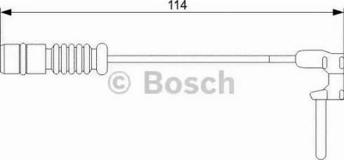 BOSCH 1987473011 - Сигнализатор, износ тормозных колодок autodif.ru