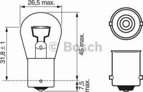 BOSCH 1987302501 - Лампа накаливания, фонарь сигнала тормоза autodif.ru