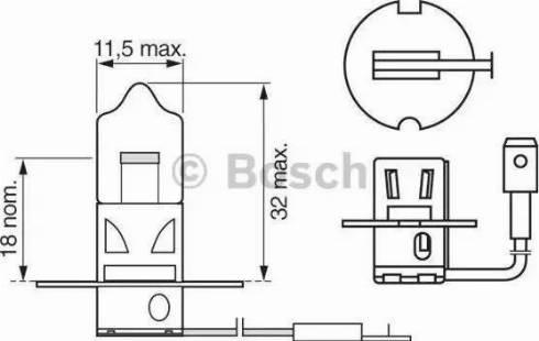 BOSCH 1 987 302 031 - Лампа накаливания, противотуманная фара autodif.ru