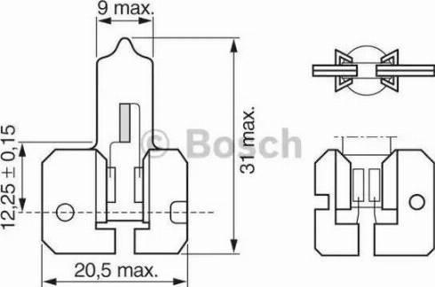 BOSCH 1987302022 - Лампа накаливания, противотуманная фара autodif.ru