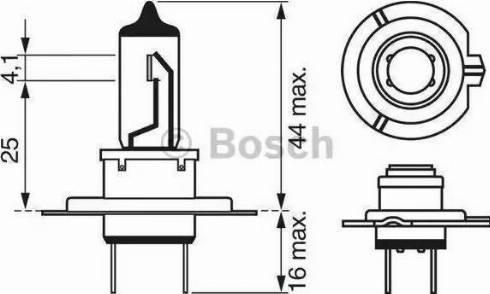 BOSCH 1987302071 - Лампа накаливания, противотуманная фара autodif.ru