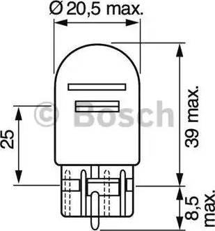 BOSCH 1 987 302 252 - Лампа накаливания, стояночные огни / габаритные фонари autodif.ru