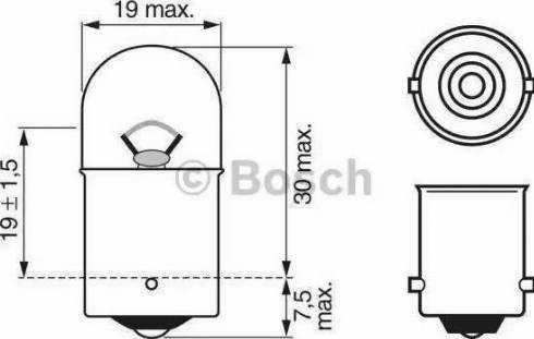 BOSCH 1 987 302 284 - Лампа накаливания, стояночные огни / габаритные фонари autodif.ru