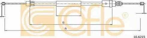 Cofle 106215 - Трос, стояночная тормозная система autodif.ru