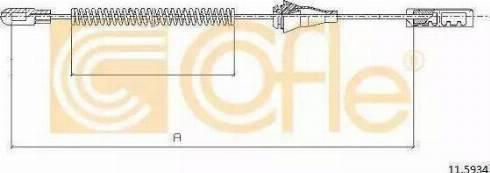 Cofle 10.5360 - Трос, стояночная тормозная система autodif.ru