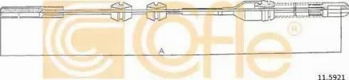 Cofle 11.5921 - Трос, стояночная тормозная система autodif.ru