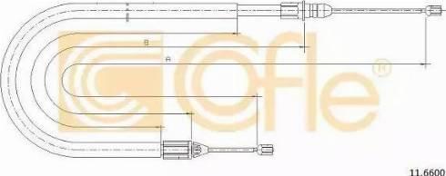 Cofle 11.6600 - Трос, стояночная тормозная система autodif.ru