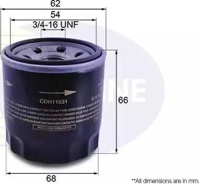 Comline CDH11631 - Масляный фильтр autodif.ru
