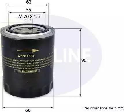 Comline CHN11532 - Масляный фильтр autodif.ru