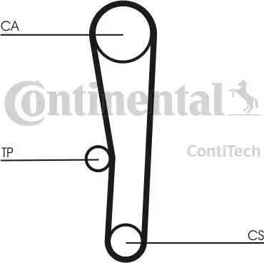 Contitech CT1062K1 - Комплект ремня ГРМ autodif.ru