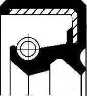 Corteco 19035375B - Уплотняющее кольцо, раздаточная коробка autodif.ru