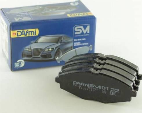 Dafmi D132SM - Комплект тормозных колодок, дисковый тормоз autodif.ru