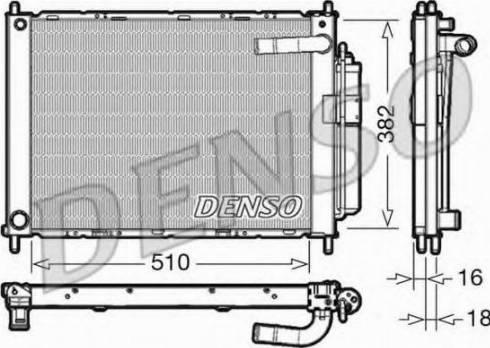Denso DRM46101 - Модуль охлаждения autodif.ru