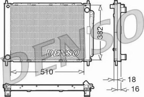 Denso DRM23100 - Модуль охлаждения autodif.ru