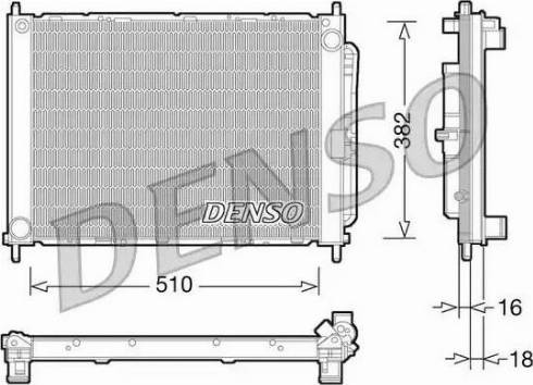 Denso DRM23101 - Модуль охлаждения autodif.ru