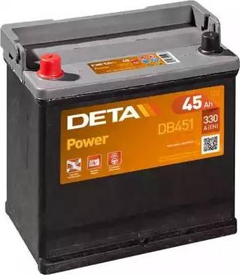 DETA DB451 - Стартерная аккумуляторная батарея autodif.ru