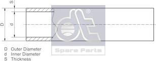 DT Spare Parts 986106 - Трубопровод autodif.ru