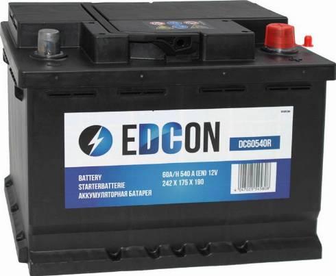 Edcon DC60540R - Стартерная аккумуляторная батарея autodif.ru