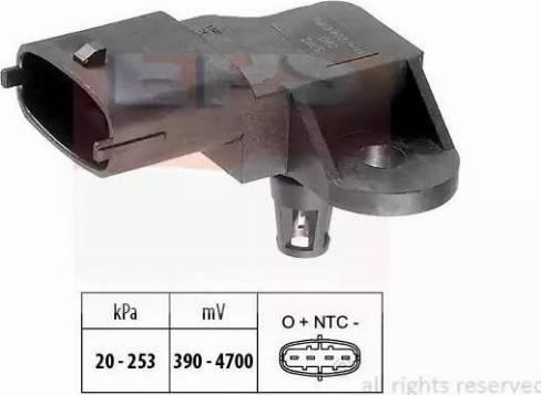 EPS 1993092 - Датчик, давление выхлопных газов autodif.ru