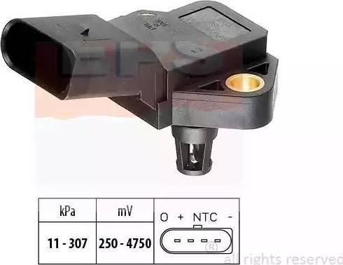 EPS 1.993.075 - Датчик, давление выхлопных газов autodif.ru