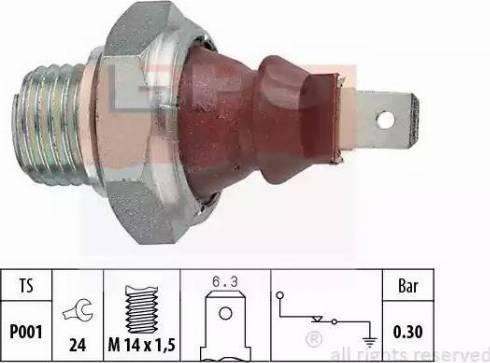 EPS 1800023 - Датчик давления масла autodif.ru