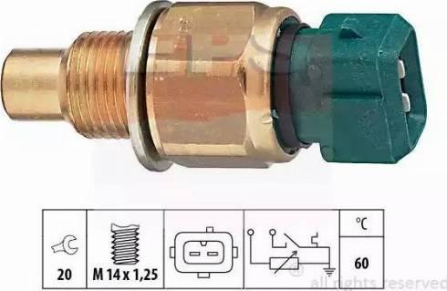 EPS 1830560 - Датчик, температура охлаждающей жидкости autodif.ru