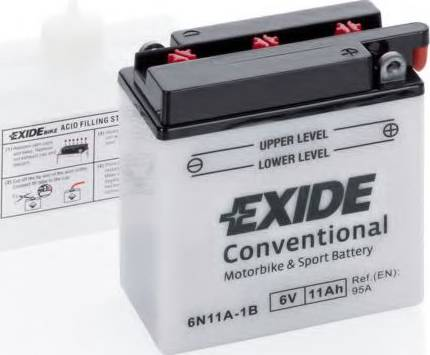 Exide 6N11A1B - Стартерная аккумуляторная батарея autodif.ru