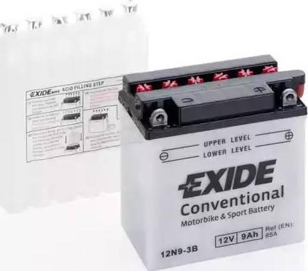Exide 12N93B - Стартерная аккумуляторная батарея autodif.ru